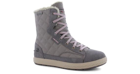 Viking Zip GTX Boots Junior Grey/Pink